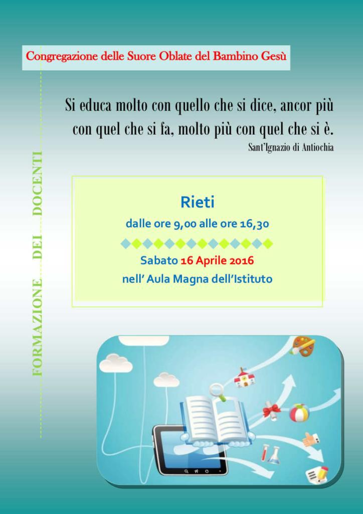 Formazione docenti Rieti